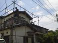 塗装足場の組立及び屋根瓦の撤去工事no.1
