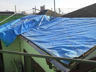 塗装足場の組立及び屋根瓦の撤去工事no.3