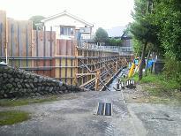 コンクリート擁壁造成工事のご紹介です。NO.5