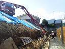コンクリート擁壁造成工事のご紹介です。NO.9
