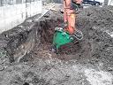 本日急きょご依頼があり、地中埋設物撤去に行ってきました